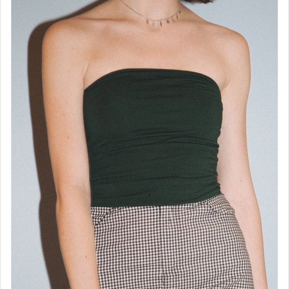 """f41a35adcf Brandy Melville forest green """"Jenny"""" tube top"""